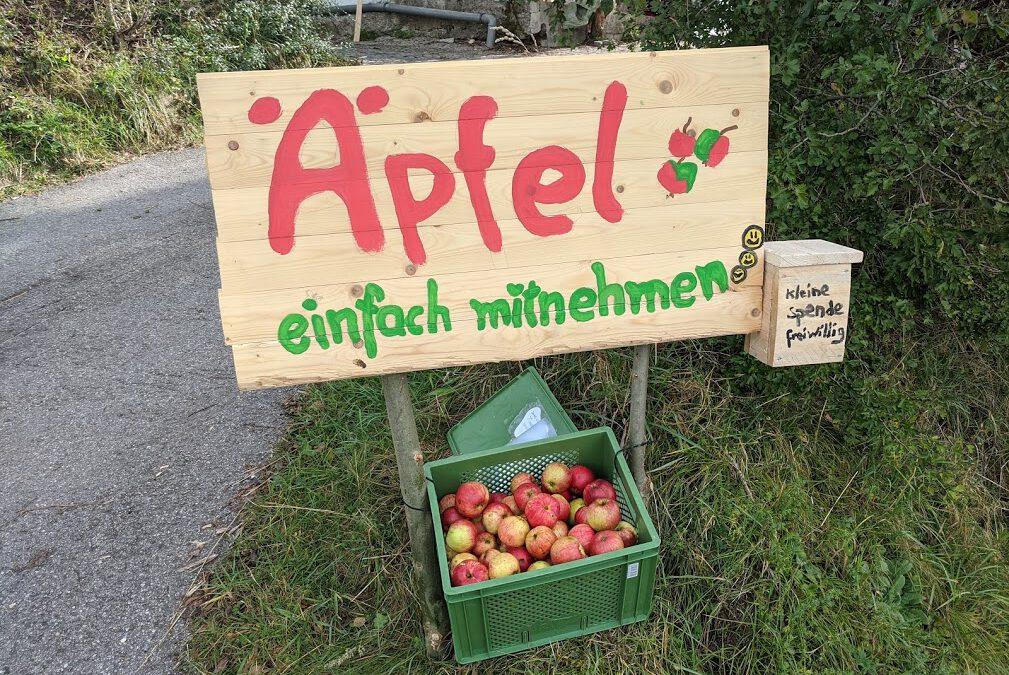 Äpfel einfach mitnehmen