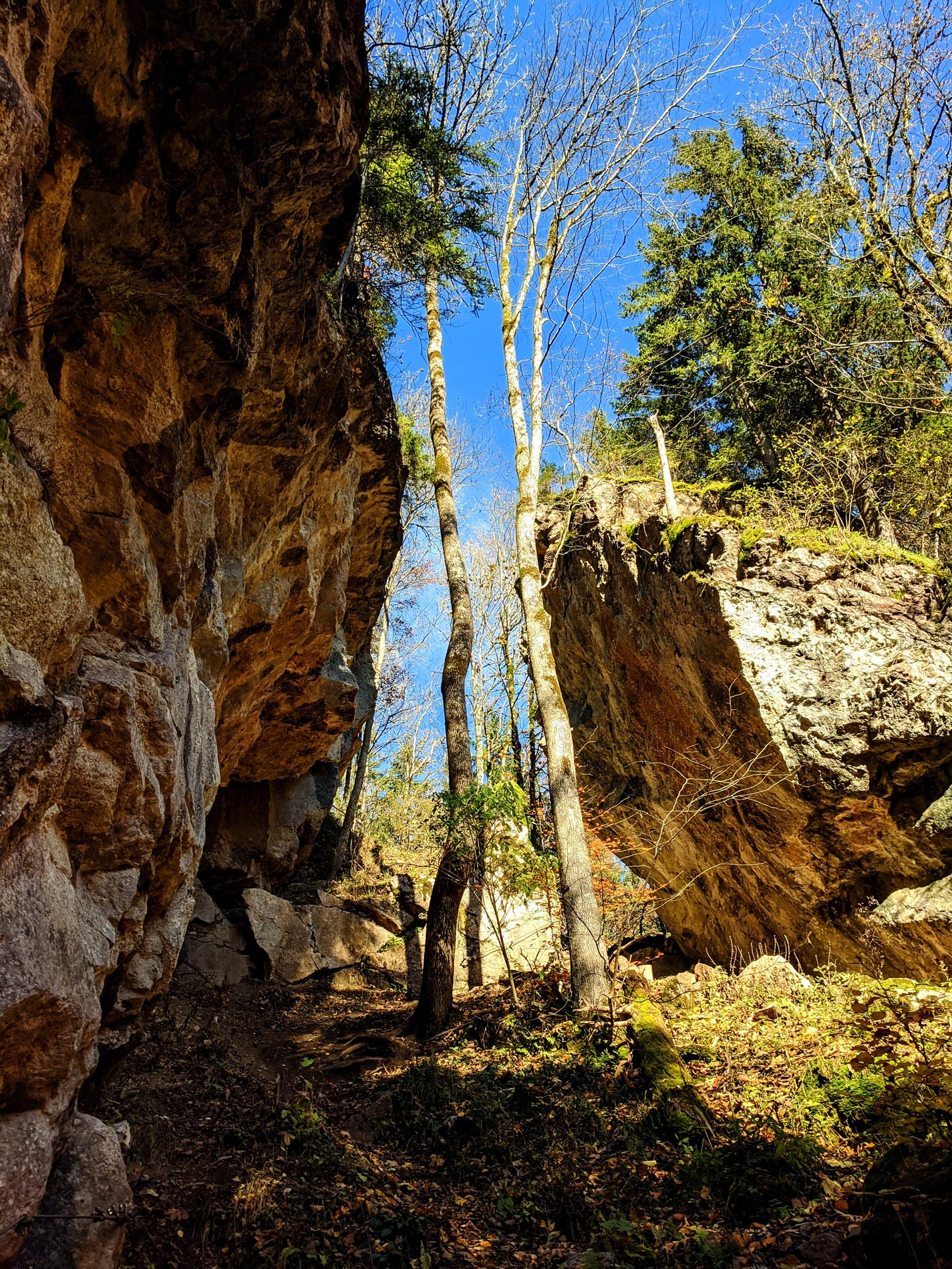 Steinformationen in der Starzlachklamm